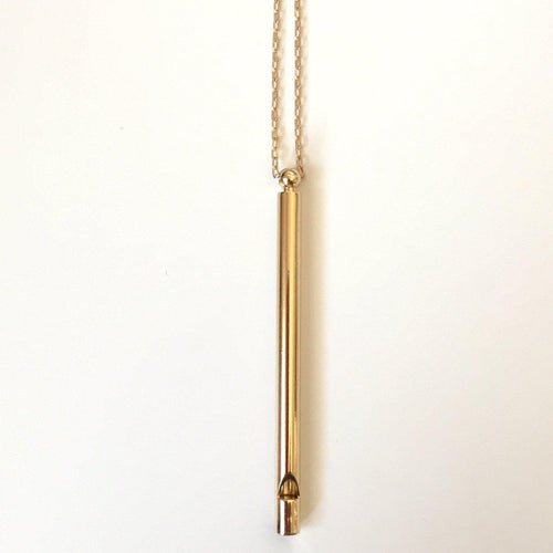 Whistle Necklace - Gold - Alexandra Kathlyn Accessories