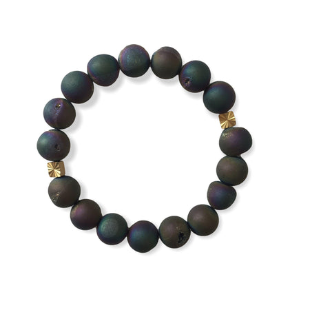 Mini Druzy Bracelet - Dark Purple