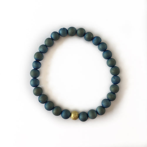 Mini Druzy Bracelet - Dark Green