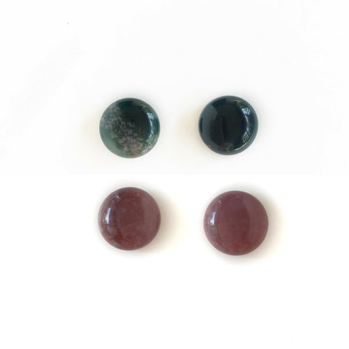 Indian Agate Studs - Natural