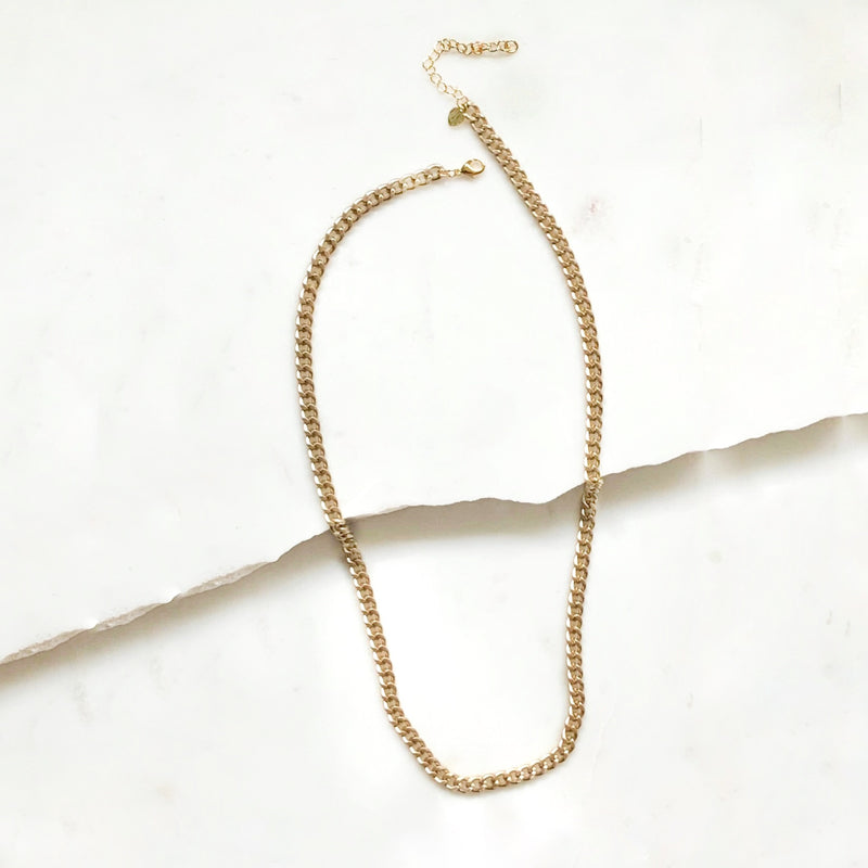 Matte Gold Chain Necklace-Necklace-Alexandra Kathlyn Accessories