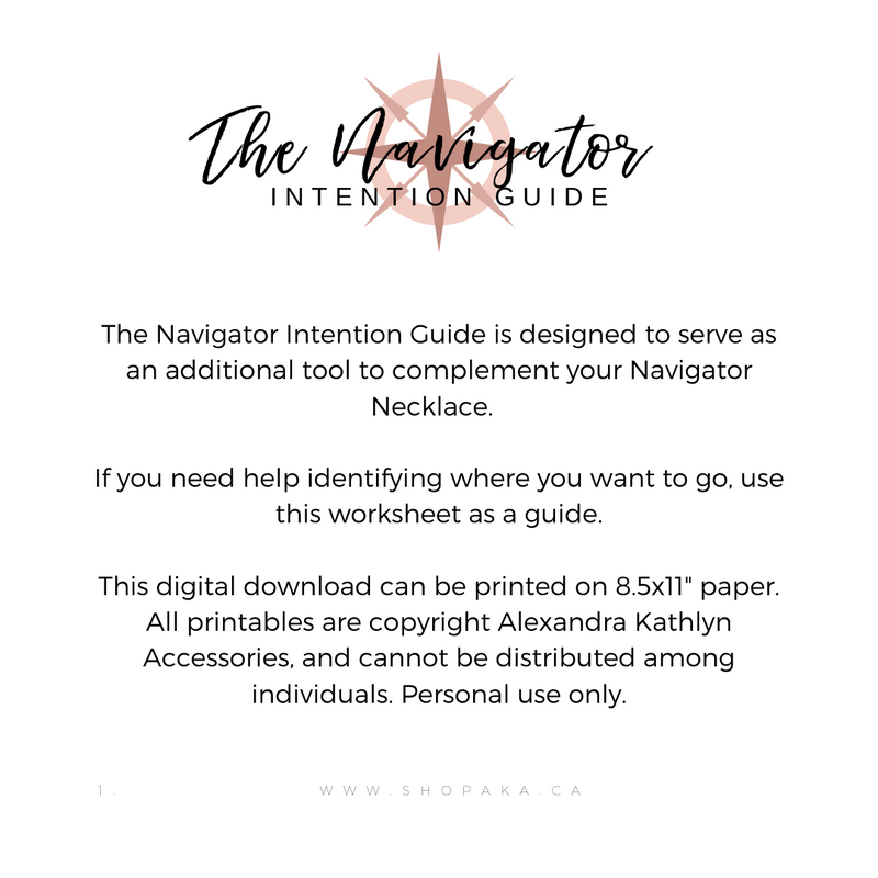 The Navigator Intention Guide-Free Printable-Alexandra Kathlyn Accessories