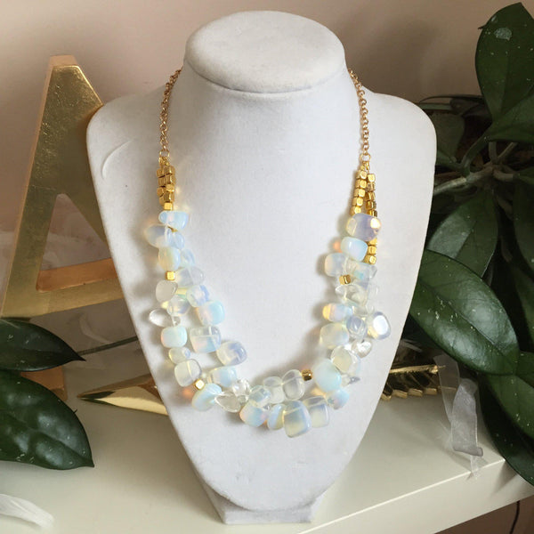 Opal Nugget Statement Necklace - Alexandra Kathlyn Accessories - 2