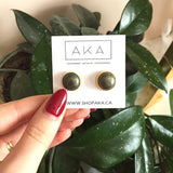 Pyrite Studs - Large - Alexandra Kathlyn Accessories - 3