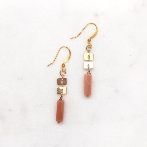 Pink Aventurine Earrings