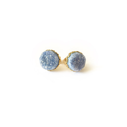 Druzy Lace Earrings - Periwinkle