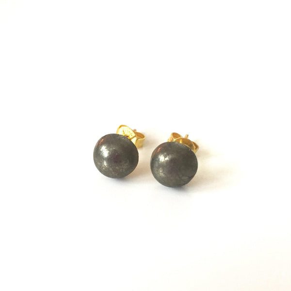 Pyrite Studs - Small - Alexandra Kathlyn Accessories - 1