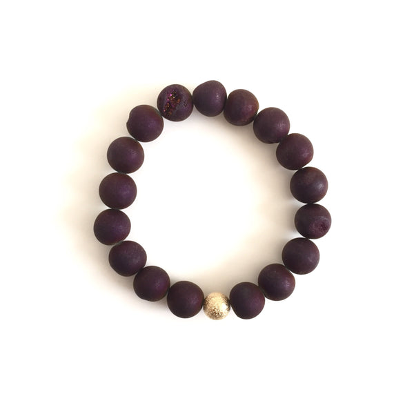 Druzy Bracelet - Dark Purple