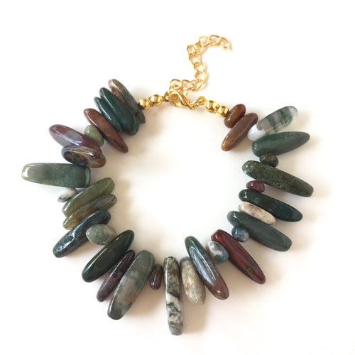Indian Agate Chip Bracelet
