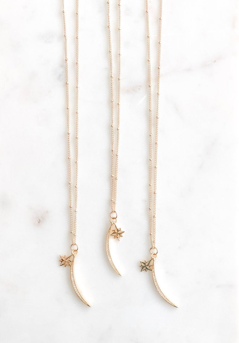"""Shoot for the Moon"" Necklace - Alexandra Kathlyn Accessories"