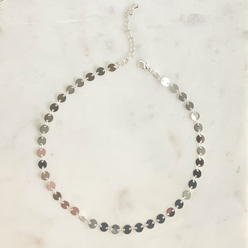 Penny Coin Necklace - Silver - Alexandra Kathlyn Accessories