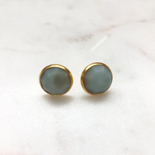 Amazonite Studs - Alexandra Kathlyn Accessories