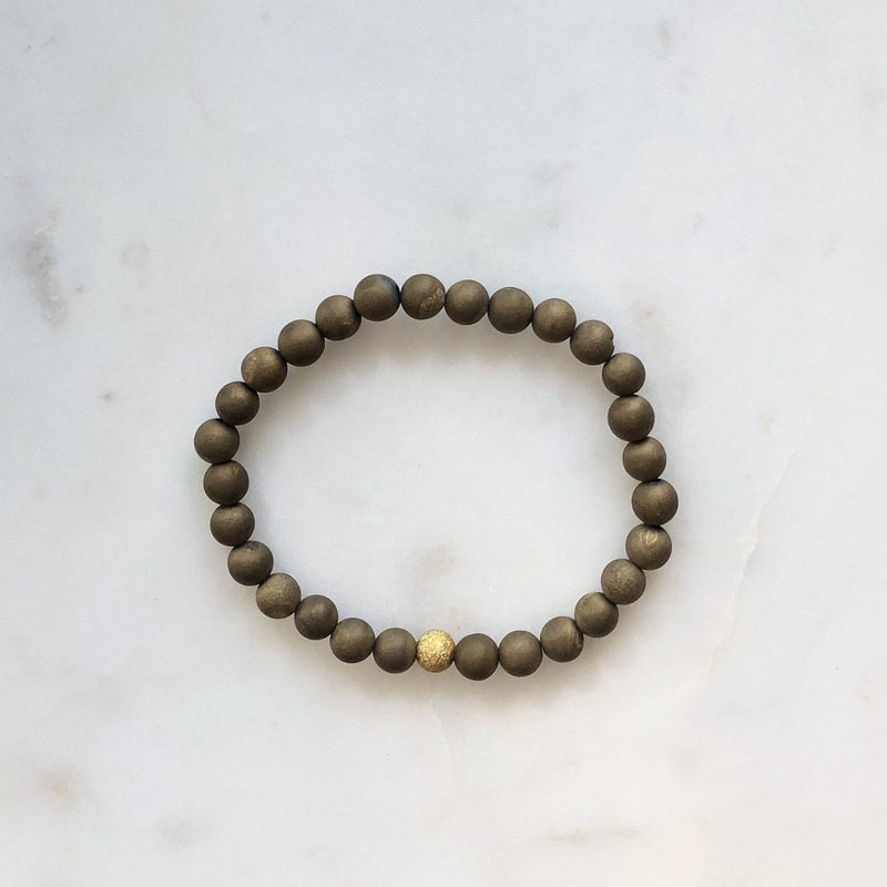 Mini Druzy Bracelet - Copper - Alexandra Kathlyn Accessories