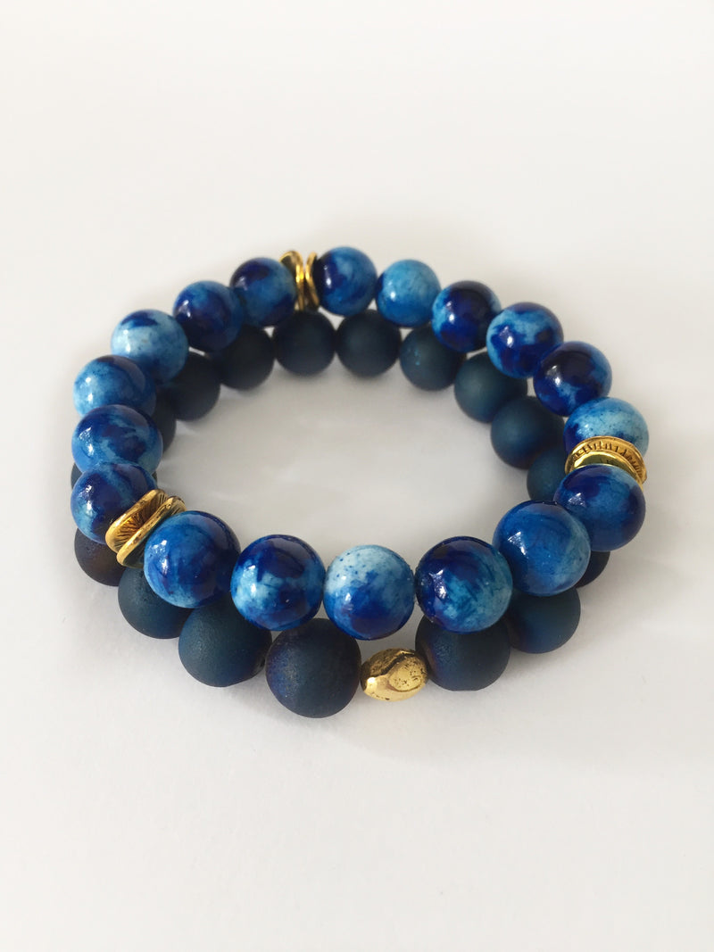 Druzy Bracelet - Blue - Alexandra Kathlyn Accessories