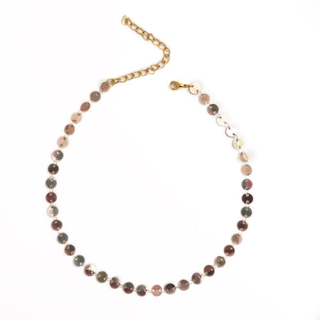 The Mini Drop Necklace - Pink Aventurine