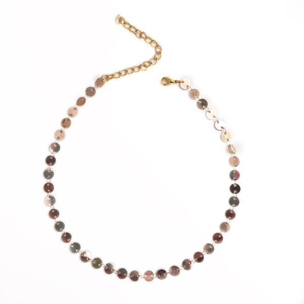 Penny Coin Necklace - Rose Gold