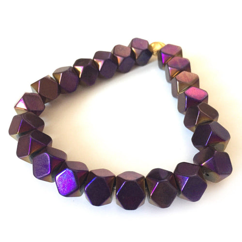 Hematite Bracelet - Purple - Alexandra Kathlyn Accessories - 1