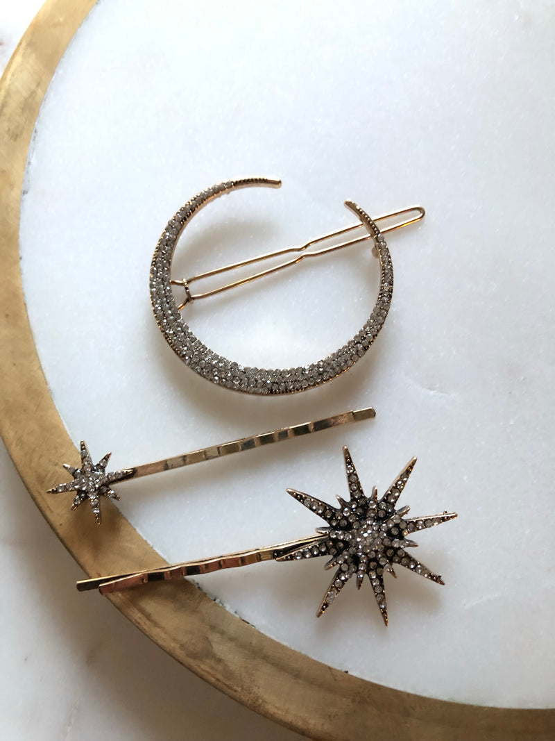 Starry Nights Bobby Pins-Hair Accessories-Alexandra Kathlyn Accessories