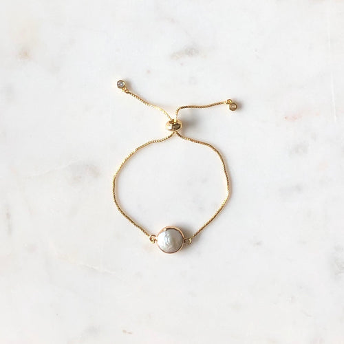 Natural Pearl Slide Bracelet - Alexandra Kathlyn Accessories
