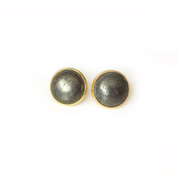 Pyrite Studs - Large - Alexandra Kathlyn Accessories - 1