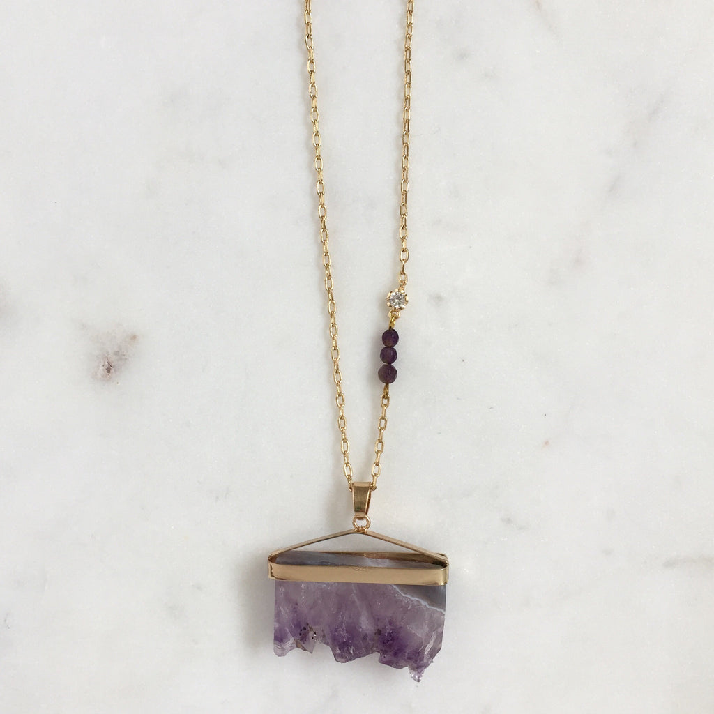 products raw and sterling silver pendant zoe piper ss necklace in amethyst
