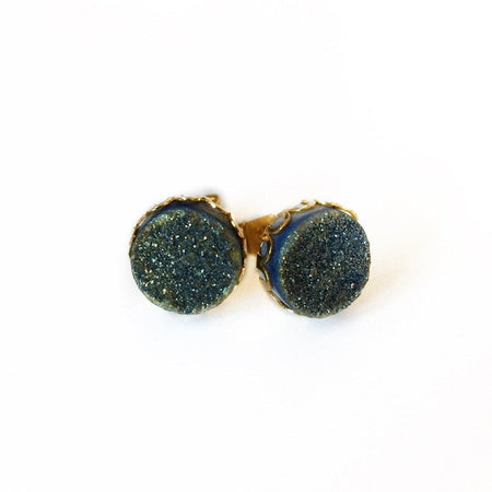 Druzy Lace Earrings - Champagne
