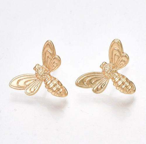 Bee Stud Earrings - Alexandra Kathlyn Accessories