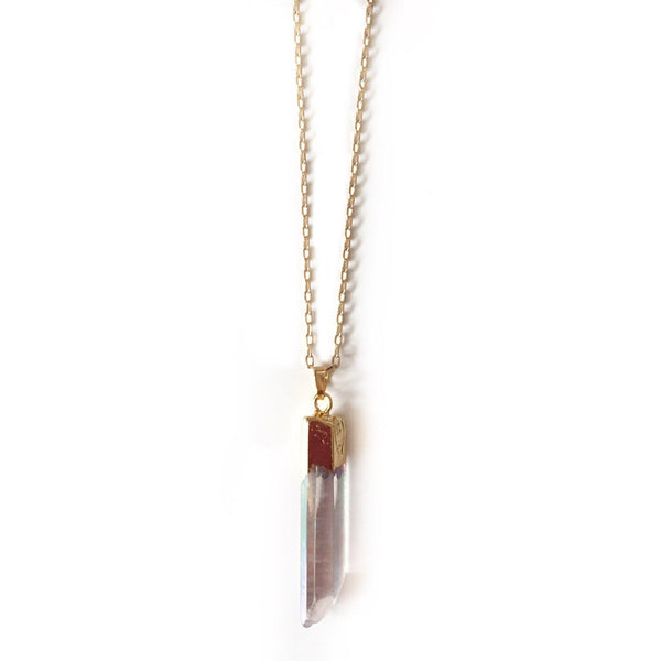 Iridescent Quartz Necklace