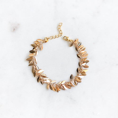 Shimmer Leaf Bracelet - Alexandra Kathlyn Accessories