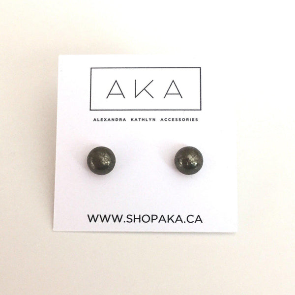 Pyrite Studs - Small - Alexandra Kathlyn Accessories - 2