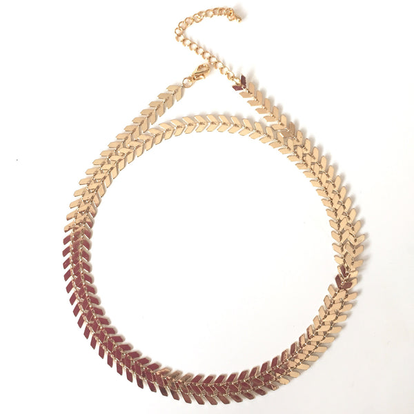 Chevron Necklace - Rose Gold