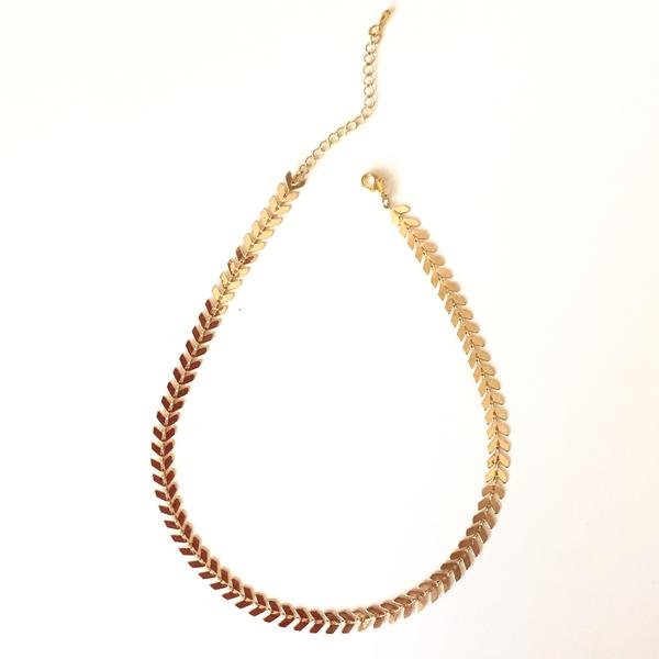 Chevron Necklace - Gold - Alexandra Kathlyn Accessories