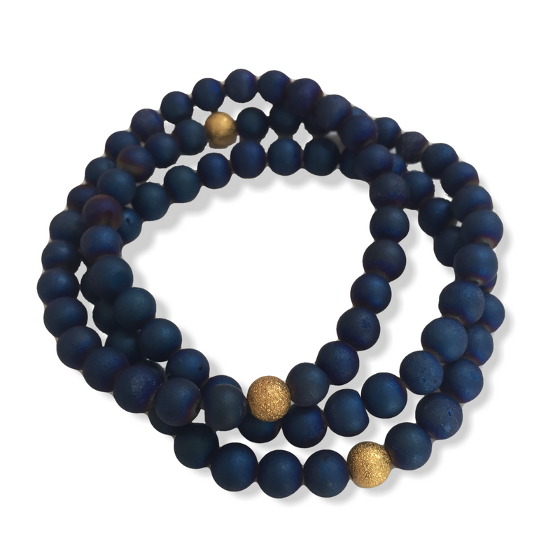 Mini Druzy Bracelet - Blue - Alexandra Kathlyn Accessories