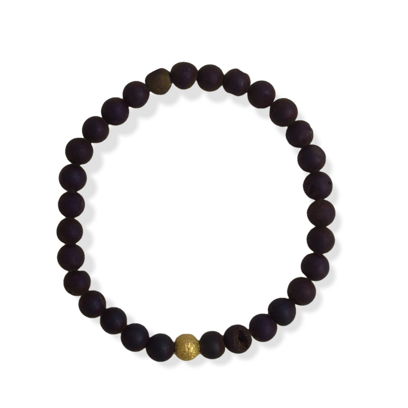 Mini Druzy Bracelet - Dark Purple - Alexandra Kathlyn Accessories