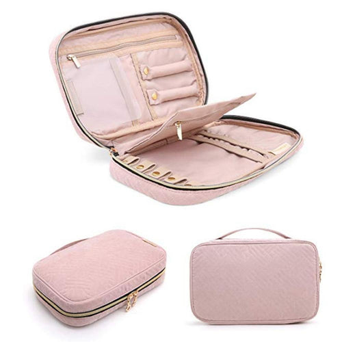 JEWELRY ORGANIZER TRAVEL CASE - Blush - Alexandra Kathlyn Accessories