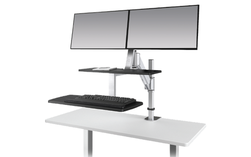 Esiergo - Sit-To-Stand Desktop Solutions Technology Solutions CLIMB2-SLV