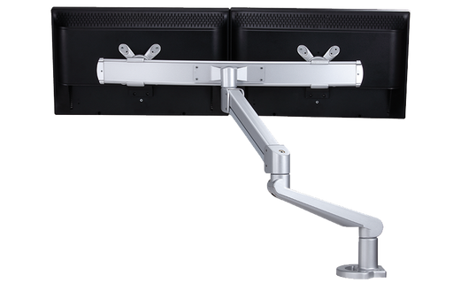 EDGE Dual Heavy Duty Monitor Arm w/Crossbar - 12 to 38.5 lb. Total Weight Capacity