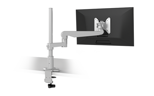 EVOLVE-Series  Single Monitor arm w/1 Fixed Limb, SILVER Finish