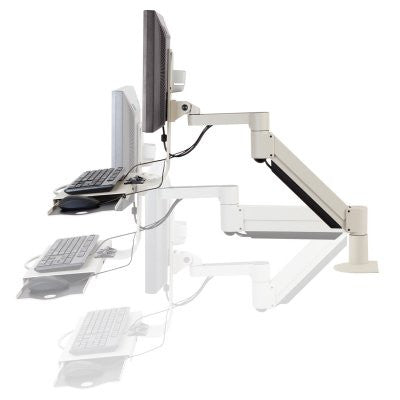 "Innovative 7509 Data Entry Monitor Arm with Flip-up Keyboard (27"")"