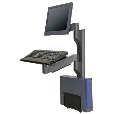 "Innovative 8326-19 Vertical 19"" Wall Track System, 7000 LCD Arm"