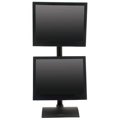 Innovative 9109-D-28 Dual Monitor Desk Stand with Pivot and Tilt