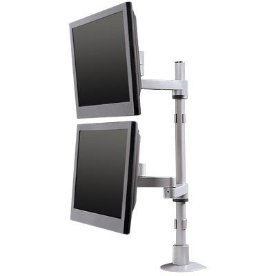 "Innovative 9112-D-30 Articulating Dual Monitor Mount with 30"" Pole"