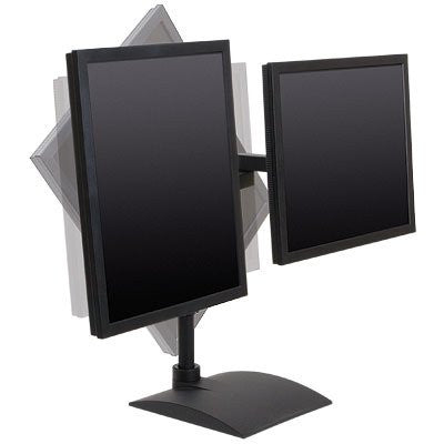"Innovative 9113 Dual Side By Side LCD Desk Stand with 16"" Pole"