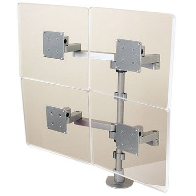 "Innovative 9120-D-28 Two-Tier Quad Monitor Arm with 28"" Pole"