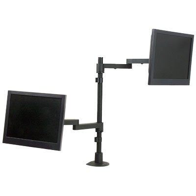 "Innovative 9130-D-28 Long Reach Dual Monitor Mount - 28"" Pole"