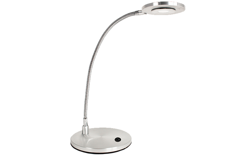 3 Watt Small Profile Desk Top LED Task Light  - SILVER Finish
