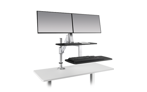 Esiergo - Sit-To-Stand Desktop Solutions Technology Solutions CLIMB-GM-SLV