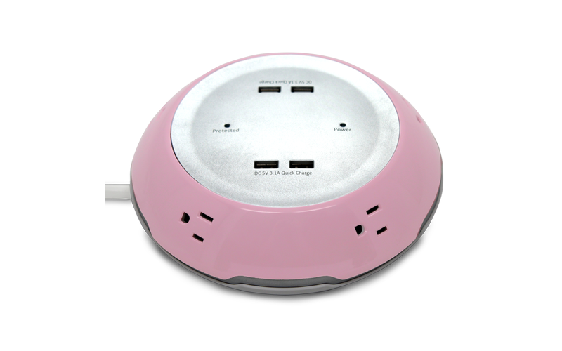 ESI Ergonomic Pink FlexCharge9 Power Solutions