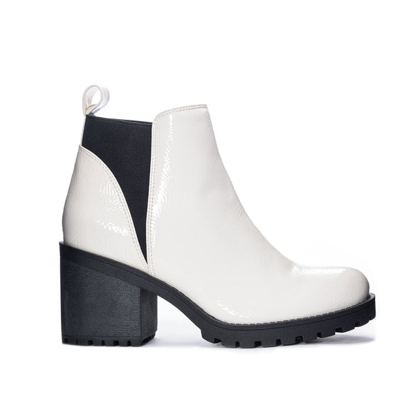 Lisbon Patent Boot in White