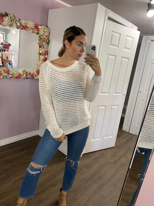 Knit Sweater in Ivory